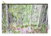 Watercolor - Summer Aspen Glade Carry-all Pouch