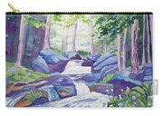 Watercolor - Summer Mountain Forest And Stream Carry-all Pouch