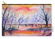 Watercolor - Sunrise At The Pond Carry-all Pouch