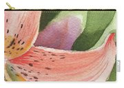 Watercolor Tiger Lily Dance Of Petals Close Up  Carry-all Pouch