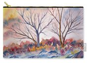 Watercolor - Trees And Woodland Meadow Carry-all Pouch