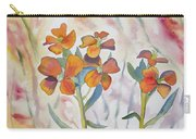 Watercolor - Wallflower Wildflowers Carry-all Pouch