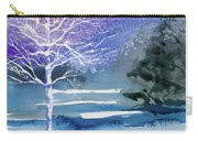 Watercolor - Winter Aspen Carry-all Pouch
