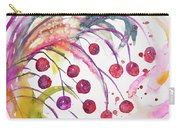 Watercolor - Winter Berry Abstract Carry-all Pouch