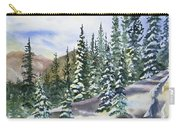 Watercolor - Winter Snow-covered Landscape Carry-all Pouch