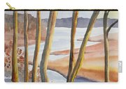 Watercolor - Winter Sunrise Carry-all Pouch