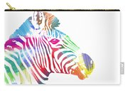 Watercolor Zebra Carry-all Pouch