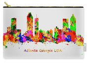 Watercolour Art Print Of The Skyline Of Atlanta Georgia Usa Carry-all Pouch