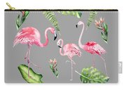 Watercolour Flamingo Family Carry-all Pouch