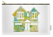 Watercolour House Carry-all Pouch