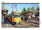 Watercolour Painting Of A Tram In Germany Carry-all Pouch