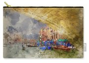 Watercolour Painting Of Low View Through Rialto Bridge Along Gra Carry-all Pouch