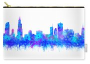 Watercolour Splashes And Dripping Effect Chicago Skyline Carry-all Pouch