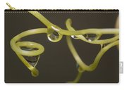 Waterdrops Catch By Grapevines Carry-all Pouch
