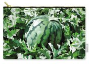 Waterelons In A Vegetable Garden Carry-all Pouch