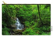 Waterfall And Rhododendron In Bloom Carry-all Pouch