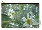Waterfall Daisies Carry-all Pouch by Barbara St Jean