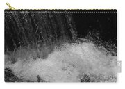 Waterfall In Black And White Carry-all Pouch