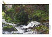 Waterfall Near Tallybont-on-usk Wales Carry-all Pouch