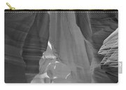 Waterfall Of Light - Black And White Carry-all Pouch