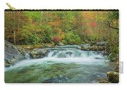 Waterfall On Little Pigeon River Smoky Mountains Carry-all Pouch