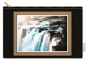 Waterfall Scene For Mia Parker - Sutcliffe L A S With Decorative Ornate Printed Frame.  Carry-all Pouch