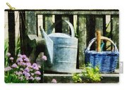 Watering Can And Blue Basket Carry-all Pouch