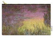 Waterlilies At Sunset Carry-all Pouch by Claude Monet