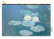Waterlilies Evening Carry-all Pouch by Claude Monet