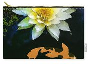 Waterlily And Koi Pond Carry-all Pouch
