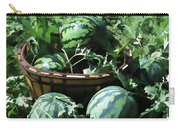 Watermelon In A Vegetable Garden Carry-all Pouch by Lanjee Chee