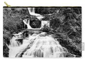 Water Slide Waterfall Bw Carry-all Pouch
