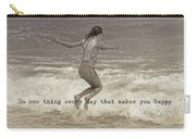 Wave Jump Quote Carry-all Pouch