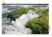 Wave Splash On The Green Rock Carry-all Pouch