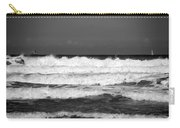 Waves 1 In Bw Carry-all Pouch