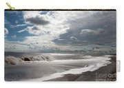Waves Breaking Against The Beach And Cloud Streaming Above  Skegness Lincolnshire England Carry-all Pouch