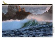 Waves Crash Against The Rocks Carry-all Pouch
