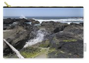 Waves Crash Ashore On A Lava Bed Carry-all Pouch