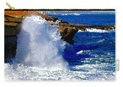 Waves Crashing On The Rocks Carry-all Pouch
