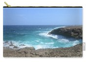 Waves Crashing On To The Lava Rock At Daimari Beach Carry-all Pouch