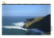 Waves From Galway Bay Crashing Against The Cliff's Of Moher Carry-all Pouch