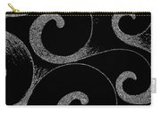 Waves Inverted In Black And White Carry-all Pouch