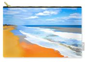 Waves Lapping On Beach 8 Carry-all Pouch