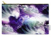 Waves Of Love - Multi Purple Teal Carry-all Pouch