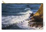 Waves Rocks And Birds Carry-all Pouch