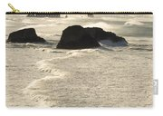 Waves Roll Ashore On The Oregon Coast Carry-all Pouch