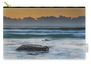 Waves Rolling In At Sunrise Carry-all Pouch