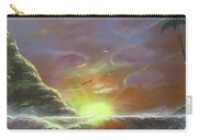 Waves Through The Sunset Carry-all Pouch