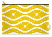Waves With Border In Mustard Carry-all Pouch