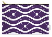 Waves With Border In Purple Carry-all Pouch